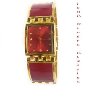 Joan Rivers Classics Women's Bracelet Watch, Red